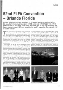 52nd ELFA Convention article