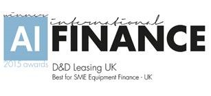 Best for SME Equipment Finance - AI Finance 2015 awards UK
