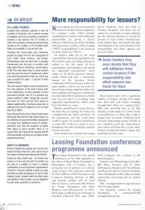Leasing Foundation conference programme announced