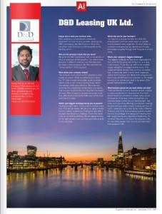 D&D Leasing UK Ltd. article AI
