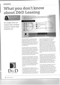 What you don't know about D&D Leasing