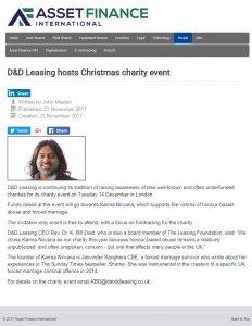 Asset Finance International D&D Christmas Charity Event