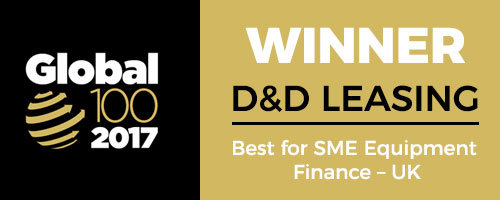 Global 100 2017 winner - Best for SME Equipment Finance UK
