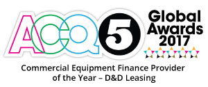 Commercial Equipment Finance Provider of the Year 2017 ACQ5 Awards