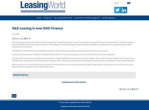 D&D Leasing is now DND Finance