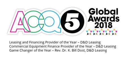 ACQ5 winner logo 2018 D&D Leasing