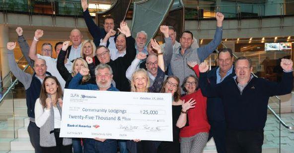 2019 ELFA Giving Back $25,000 donation