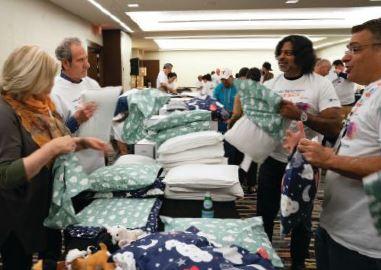 2019 ELFA volunteers Giving back donated supplies